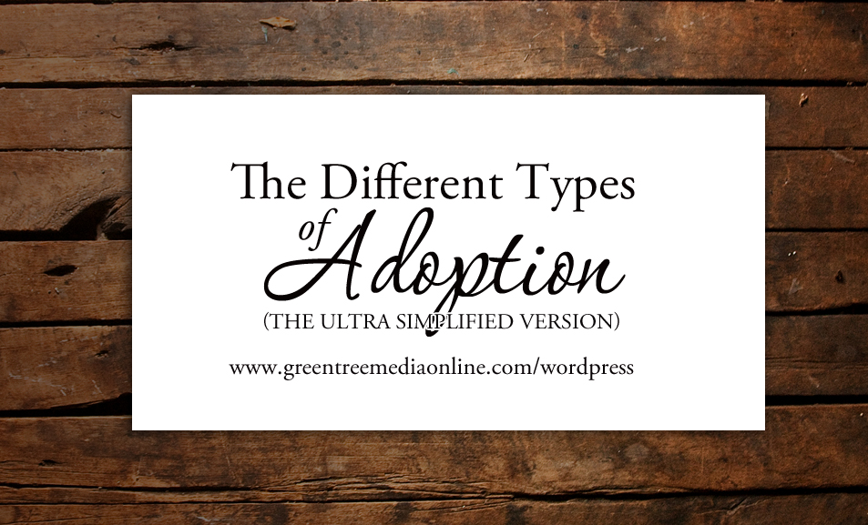 types of adoption Two other types of adoptions are domestic adoptions and international adoptions domestic adoptions occur when the adoptive parents opt for a child within their native country for example, residents of the united states search for a child born within the united states.